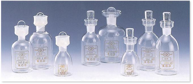 定量フラン瓶ガラスロート