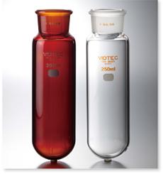 ガス洗浄瓶(瓶のみ・台なし・茶色)丸底