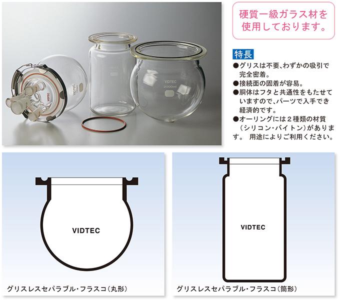 グリスレスセパラブル・フラスコ(丸形・筒形)