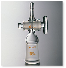 排気管直管メス型(コック付・先端ゴム止め付8㎜)
