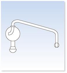 トラップ球(長形・角度約75°・105°・枝全長200㎜)