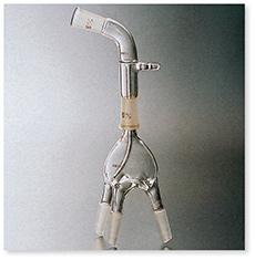 分溜受器(減圧用曲管形・角度105°・3本足)