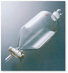 コスモス形分液ロート(透明摺ガラスコック付)