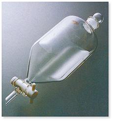 コスモス形分液ロート(PTFEコック付)