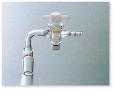 SPC排気管曲管PTFEコック(先端ゴム止め付8mm)