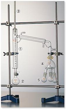 セミ・ミクロ蒸留装置Ⅲ型