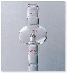 偏平形ロータリー用トラップ球 透明摺合