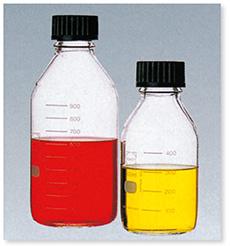ねじ口瓶(DURAN®)(黒キャップ付)(ISOねじ)
