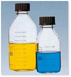ねじ口瓶(DURAN®)(赤キャップ付)(ISOねじ)