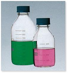 ねじ口瓶(DURAN®)(青キャップ付)(ISOねじ)