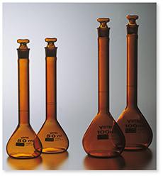 メスフラスコ(全量フラスコ)(カスタムA)(茶褐色)