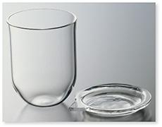 石英ガラスルツボ(白金形)
