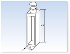 ガラス栓付石英標準セル(分光光度計用)(二面透明)