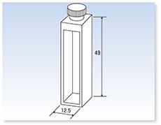 テフロン®栓付石英標準セル(分光光度計用)(二面透明)