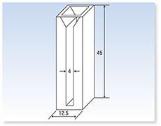 セミ・ミクロ石英セル(分光光度計用)(二面透明)