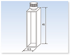 テフロン®キャップ付石英標準セル(分光光度計用)(二面透明)