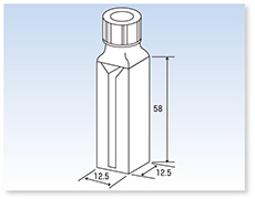 スクリューキャップ付特殊ミクロ石英セル(分光光度計用)(二面透明)