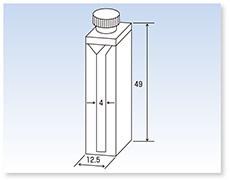 PTFE栓付セミ・ミクロ石英セル(分光光度計用)(二面透明)