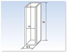 標準蛍光石英セル(蛍光光度計用)(全面透明)