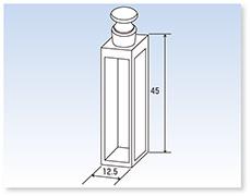 ガラス栓付標準蛍光石英セル(蛍光光度計用)(全面透明)