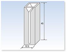 特殊ミクロブラックセル(分光光度計用)(二面透明)