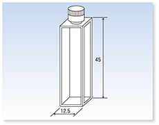 PTFEキャップ付標準蛍光セル(蛍光光度計用)(全面透明)