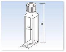 スクリューキャップ付標準蛍光セル(蛍光光度計用)(全面透明)