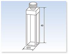 PTFE栓付標準蛍光セル(蛍光光度計用)(全面透明)
