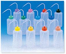 カラーキャップ付洗浄瓶(広口タイプ)(PE)(単色)