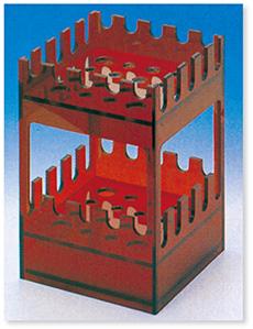 ピペット台(PVC)(角形)(茶褐色)