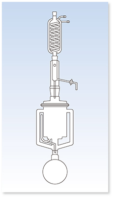 ポリウレタンフォーム用ソックスレー抽出器(GL型)