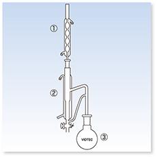 ディンスターク環流式抽出・濃縮装置(残留濃薬分析法準拠)