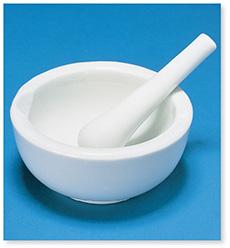 乳鉢(棒付)(磁製)