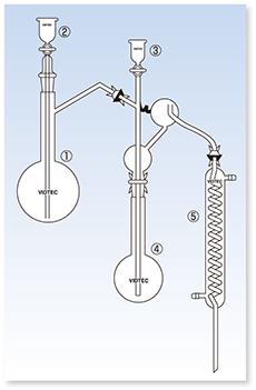 水蒸気蒸留装置Ⅰ型/アンモニア蒸留装置(JIS K-0102準拠)