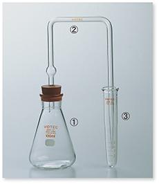砒化水素発生捕集装置Ⅲ型(JIS K-0101準拠)
