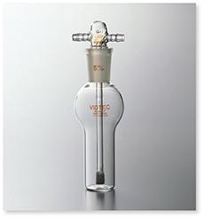 ガス洗浄瓶(円筒フィルター付)
