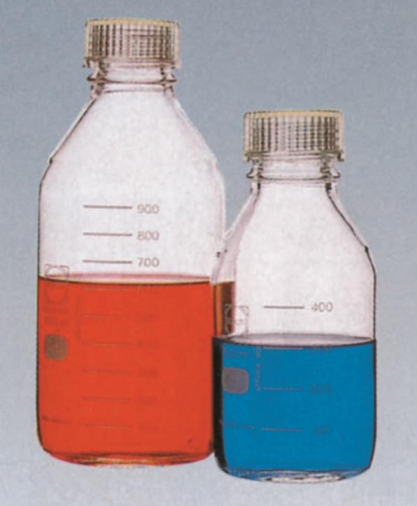 ねじ口瓶(DURAN®)(透明キャップ付)(ISOねじ)