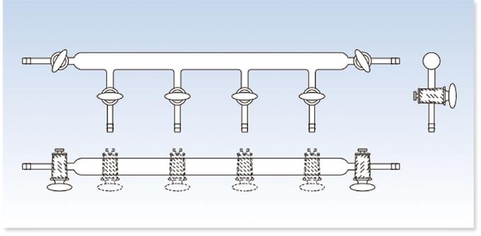 窒素ライン PTFEコックタイプ