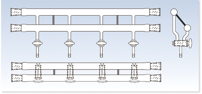 真空ライン 二配管 両サイド摺り合わせタイプ