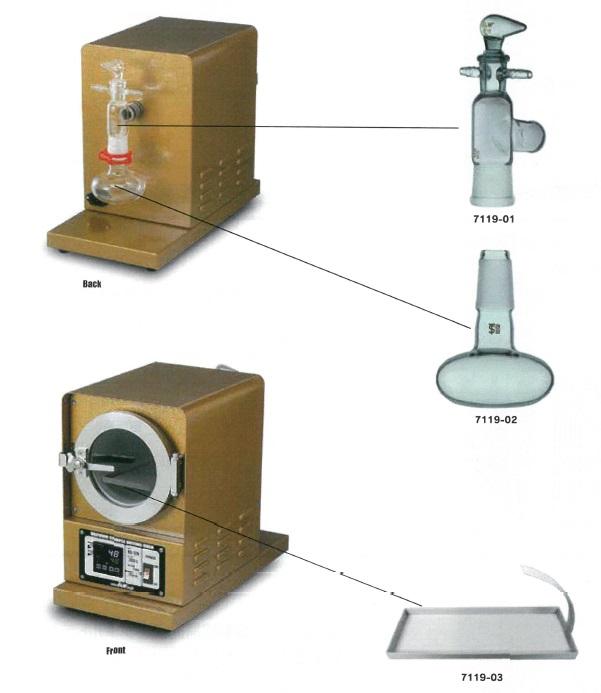 真空検体乾燥器 HD-120部品