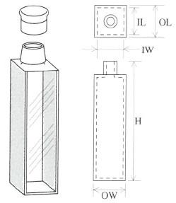 キャップ付標準セル(2面透明)