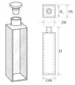 栓付標準セル(2面透明)