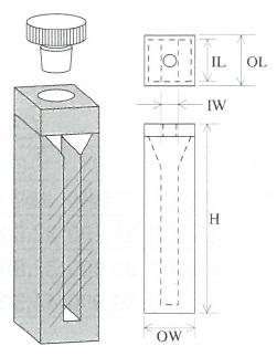 栓付セミマイクロセル(2面透明)