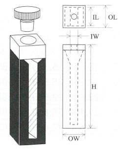 栓付セミマイクロブラックセル(2面透明)