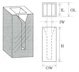 小型マイクロセル(2面透明)