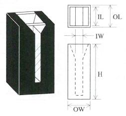 小型マイクロブラックセル(2面透明)