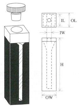 栓付マイクロブラックセル(2面透明)