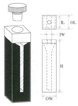 栓付上底マイクロブラックセル(2面透明)