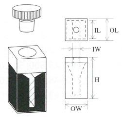 栓付小型マイクロブラックセル(2面透明)