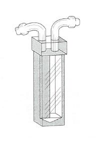 枝付フローセル(2面透明)